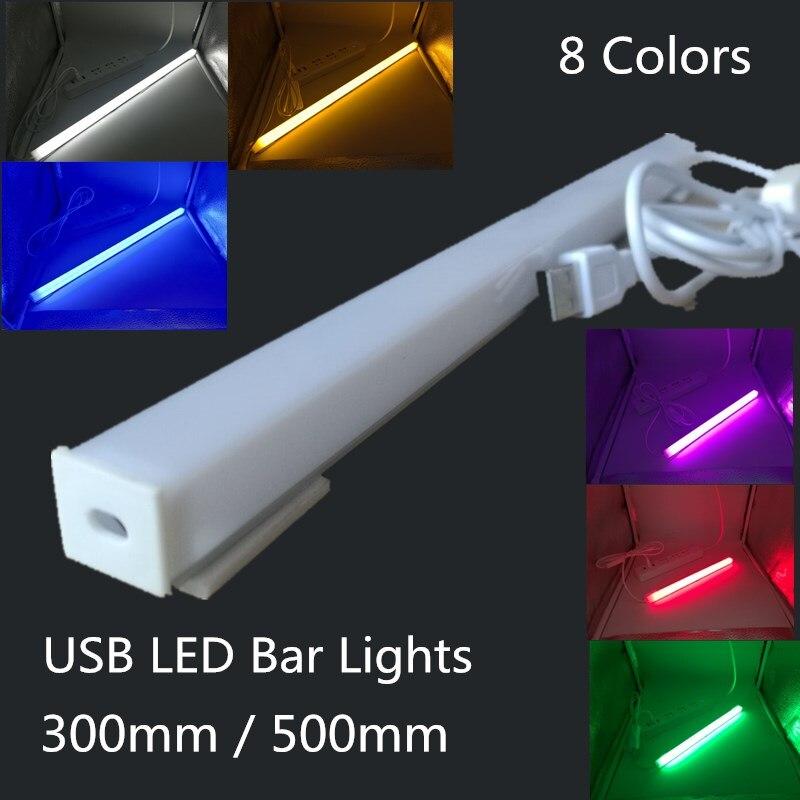LED Bar Lights USB 2835 LED Hard Strip Tube With U Aluminium Shell Kitchen Aluminum For Under Cabinet Lighting Reading Desk Tabl