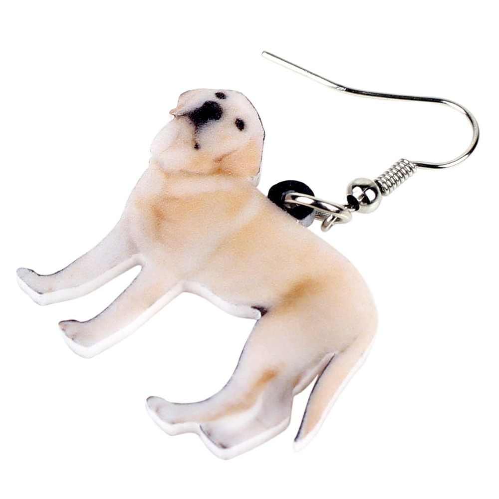WEVENI акриловые стоя Лабрадор ретривер собака Серьги Висячие капли милые животные ювелирные изделия для женщин обувь девоч