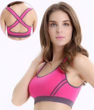 2016 Hot Selling ! Multicolors ! Women Padded Top Athletic Vest Gym Fitness Sports Bra Stretch Cotton Seamless popular