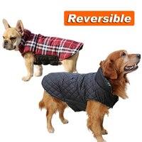 Reversible S Medium Large Pet Dog Clothes Jacket Vest Winter Warm Coat Golden Retriever Costume XS