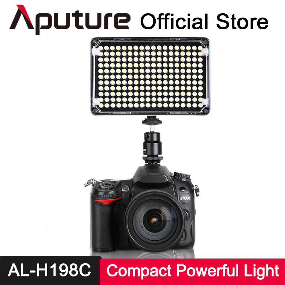 Aputure AL H198C LED Video Light Amaran CRI 95+ Lamp 5500K 3200K Dimmable for Canon Nikon Pentax DSLR Camera Video Camcorder aputure amaran hn100 cri 95 halo ring 6w 1020lm 5500k 100 led flash lamp for nikon cameras black