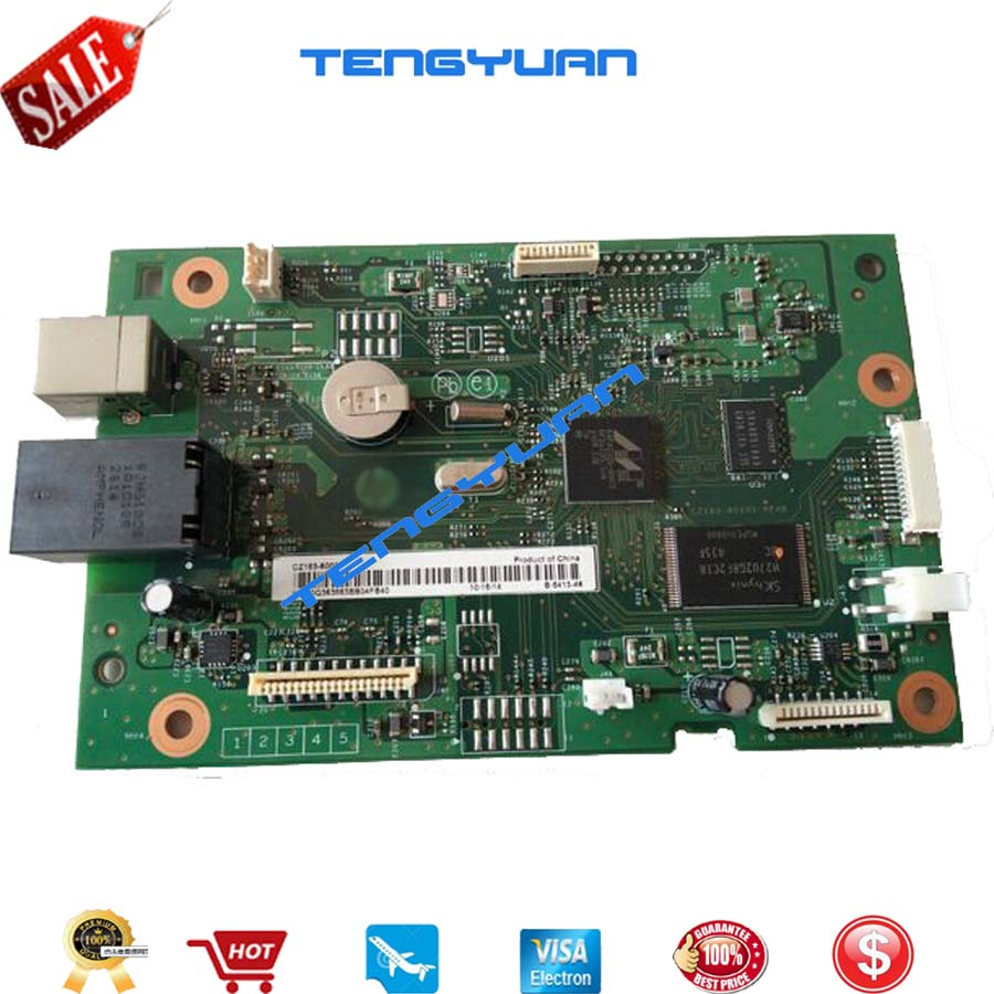 100% test  Formatter Board for HP Color LaserJet Pro MFP M177 M177FW PCA-Formatter Wireless CZ165-60001 printer parts on sale new oem formatter board 220v for hp laserjet pro m126a m126 m125a m125 126 125 cz172 60001 high quality mainboard copier parts