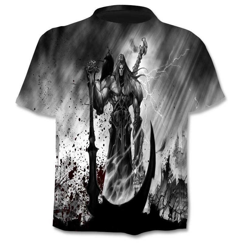 2019New Design t camisa dos homens/mulheres de heavy metal Crânio Do ceifador 3D impresso t-shirt casual estilo Harajuku streetwear tshirt topos