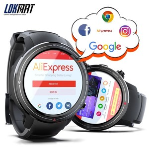 """Image 3 - LOKMAT Bluetooth Smart Watch Men 1.39"""" AMOLED Screen 400*400px 3GB+32GB Android 7.1 Heart Rate Monitor GPS 4G Smartwatch For Ios"""