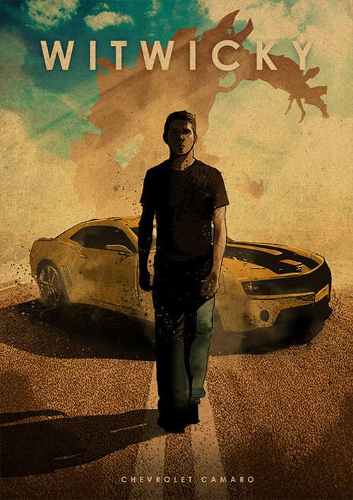 שונים סרט גיבור איש ומכונית סרט פוסטר קראפט נייר פוסטר רטרו פוסטר קיר מדבקה דקורטיבי ציור