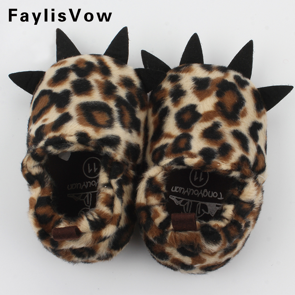 Winter Infant Baby First Walkers Toddler Anti-slip Indoor Snow Shoes Newborn Fleece Shallow Boots Kids Monster Claw Warm Booty