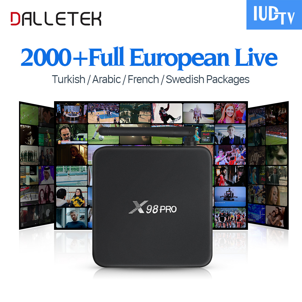 X98 PRO Android Smart TV Box HD 2G 16G Amlogic S912 Octa Core with Europe Arabic UK Turkey Sweden French IPTV Subscription rkm mk22 amlogic s912 2g 16g android 6 0 smart tv box tronsmart tsm01