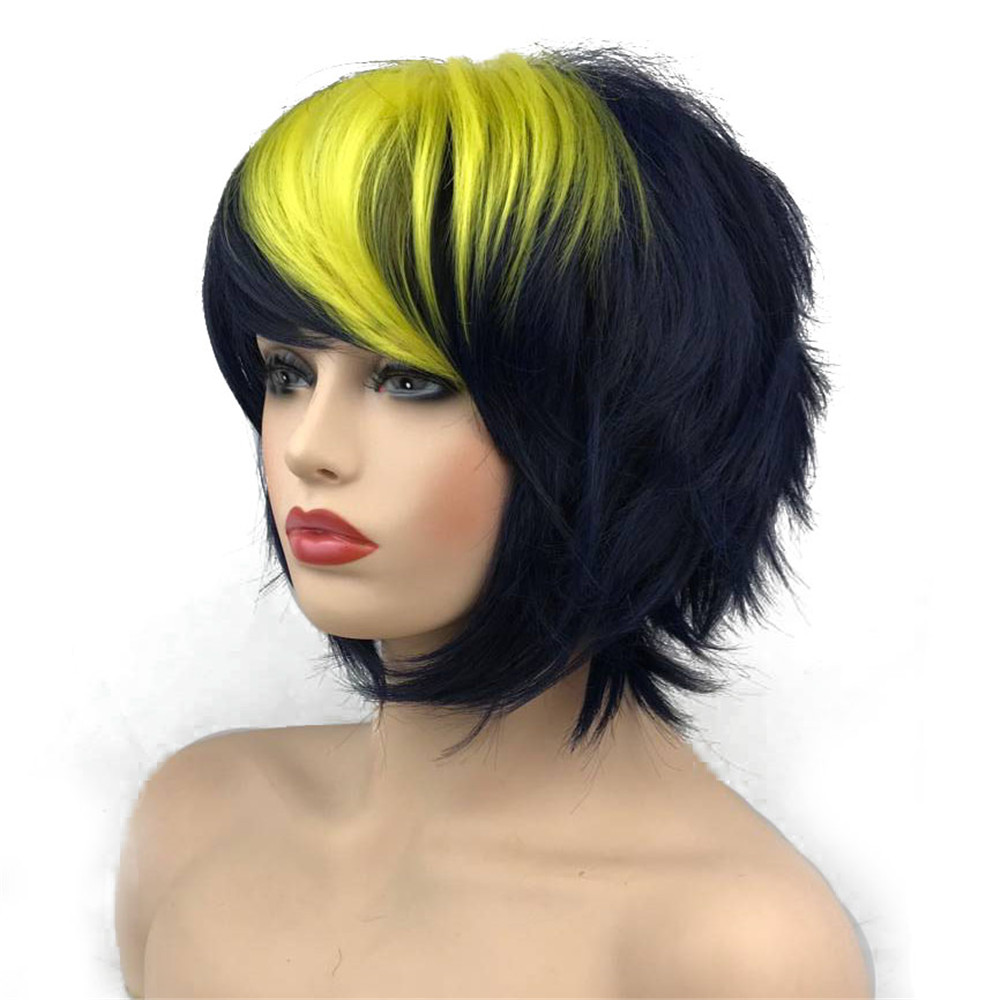 StrongBeauty Halloween Wig Blue Assassination Classroom Akabane Karma Cosplay Wigs Red Synthetic Hair