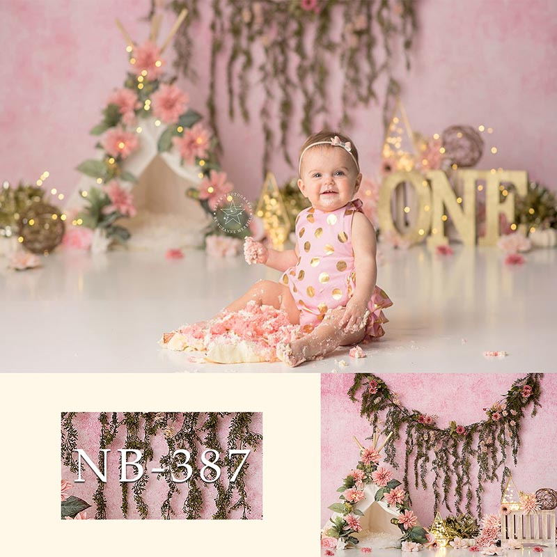 Photography Backdrop Newborn Baby Colorful Flowers Tent Flash Birthday Party Background Children Backdrops Photo Studio Props