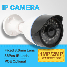 HD 720P 1080P Security CCTV Surveillance Camera Outdoor 1.0MP 2MP CCTV IP Camera With POE Optional P2P ONVIF iPhone Android View