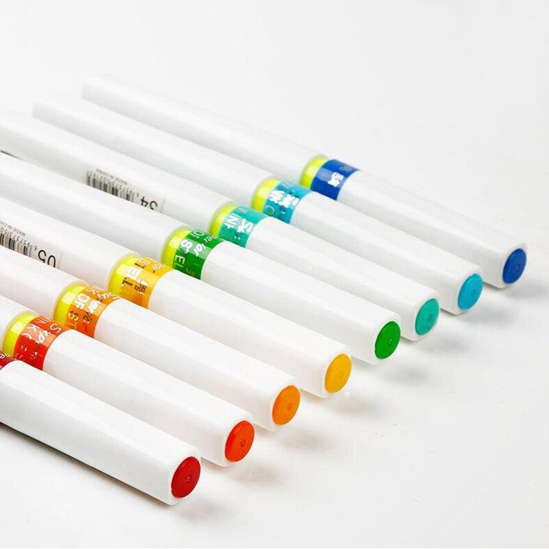 все цены на Premium 12/24Colors Glitter Markers Brush Pen Art Marker Pen Wink of Stella Soft Brush Pen For Sparkle Shine To Letter Draw Gift онлайн