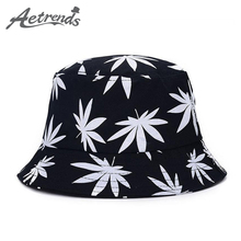 [AETRENDS] Maple Leaf Bucket Hat hip Hop Bob Panama Women Caps Z-1530()