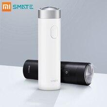 Afeitadora eléctrica Xiaomi Smate para hombres maquinilla de afeitar flexible máquina de afeitar húmeda seca recargable USB IPX7 impermeable una cuchilla cómoda limpia