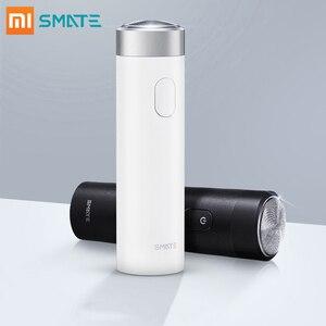 Image 1 - Xiaomi Smate חשמלי מכונת גילוח לגברים להגמיש גילוח רטוב גילוח מכונת USB נטענת IPX7 עמיד למים אחד להב נוח נקי