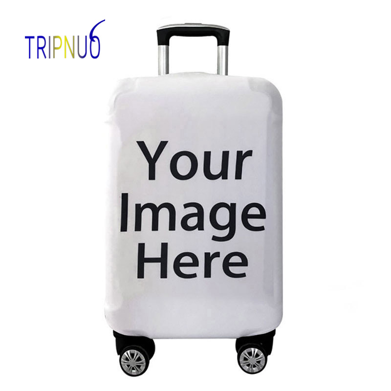 Customize Your Image / Name / Logo Luggage Cover Suitcase Protective Covers Elastict Case Cover For 18-32 Inch Trolley