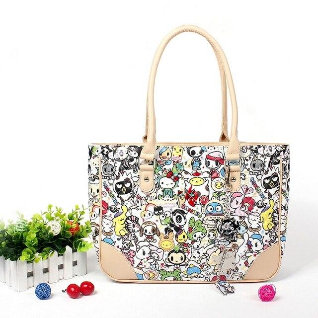 10d82ecc4888e Fashion hello kitty top handle bags High quality PU cute women bag luxury  handbags women bags designer cat handbag