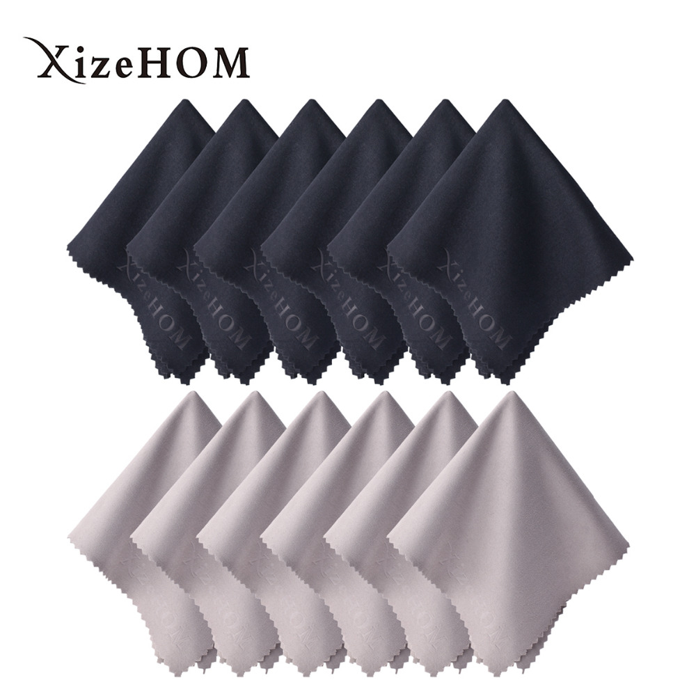 XizeHOM  30*30cm/12pcs  Free shipping New Glasses Cloth Fabric Mobile Phone Camera Wipes Computer Lcd Monitor Ipad Cleaning