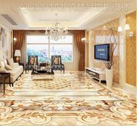 High End Elegance PVC 3d Floor Murals Wallpaper Marble Pattern Vinyl Flooring Photo Wall Murals European