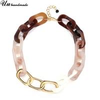 Statement Choker Necklace Women Acrylic Chain Kolye Colar Harajuku Collares Boho Jewelry Bijoux Necklaces Pendants Collier Femme