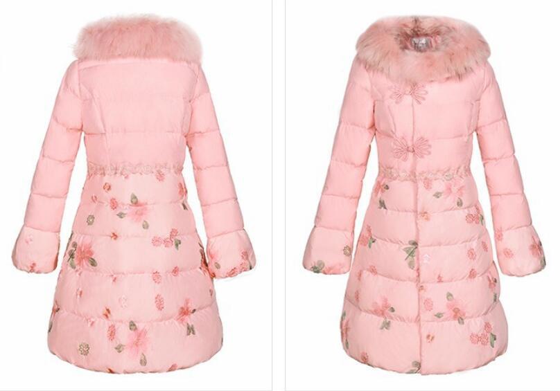 Manteaux Filles 2019 Plus Taille Manteau De Veste Dowm Mode Doux Rose La Chaud Réel Col Étudiant Vestes Fourrure D'hiver Nouveau Femme SAxR1SqC
