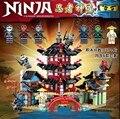 Ниндзя Храм Airjitzu Ninjagoes Уменьшенная Версия Bozhi 737 шт. Блоки Совместимость с Лепин Игрушки для Детей Строительного Кирпича