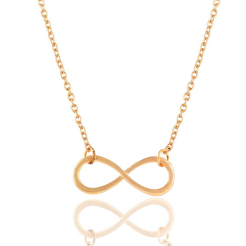 Hot Sales Fashion 8 Word Love Necklace Luxury Charm Alloy Chain Infinity pendant necklace jewelry Free shipping