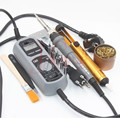 YIHUA 908D 220 V & 110 V 60 W ferro Aquecido LEVOU Display Digital Estação De Solda de Ferro lata de Sucção Limpo pinças bola escova