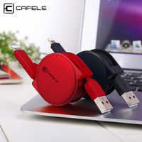 Cafele USB for iPhone Cable and Micro USB Cable 2in1 Retractable USB Charging Cable for iPhone and Android Micro USB