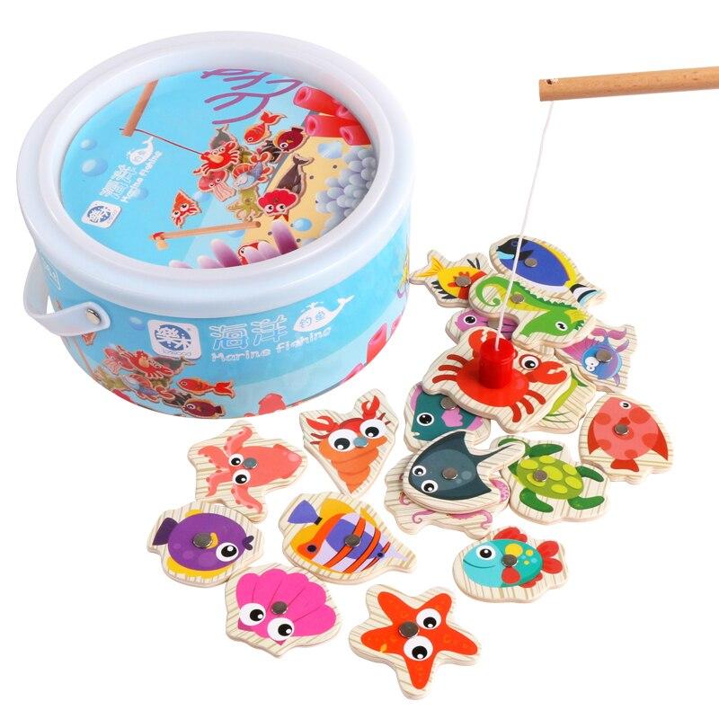 Logwood 60pcs Set Magnetic Fishing Toy Game Kids 3 Rod 3D Fish Baby - გარე გართობა და სპორტი - ფოტო 3