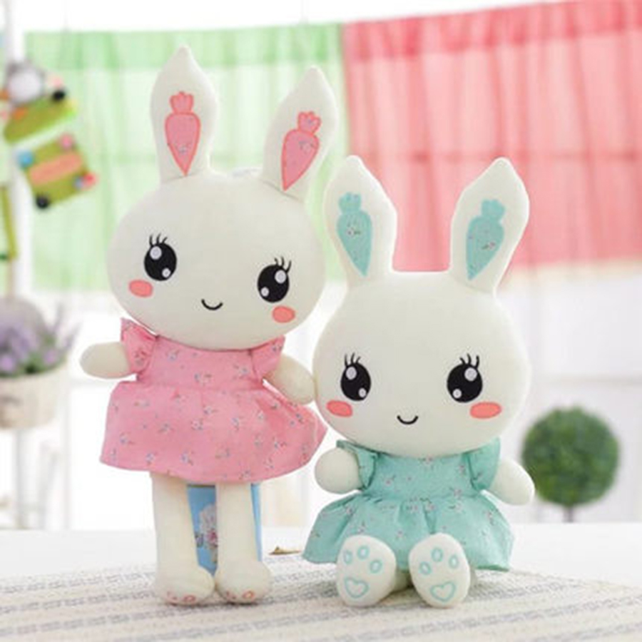 New Cute Love Embroidery Rabbit Baby Soft Plush Toys Plush Rabbit Stuffed Toys Best Gift Peluches De Animales For Kids 70C0058