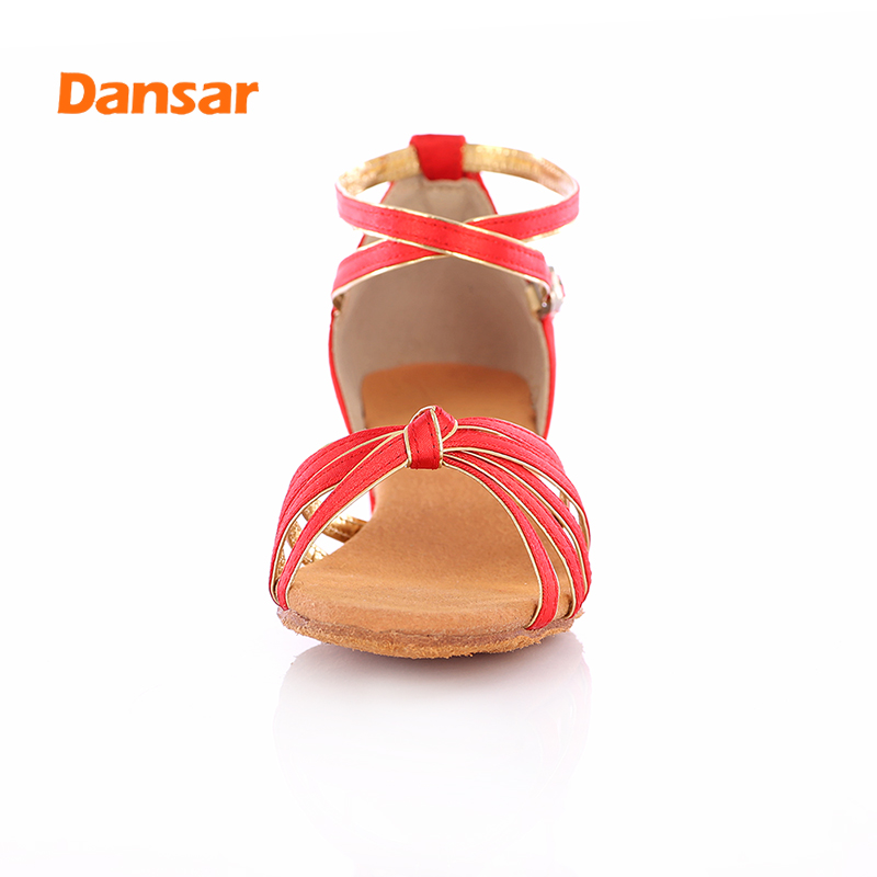 High Quality Professional Jazz Ballroom Tango Salsa Latin Dance Shoes For Girls Children Kid Women's Soft Bottom Low Heel
