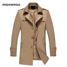 2018 spring new arrival Men's Business casual trench coat high quality jacket me
