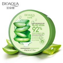 BIOAQUA Natural Aloe Vera Gel Face Cream Acne Treatment Anti-Aging Shrink Pores for Hydrating Moist Repair After Sun