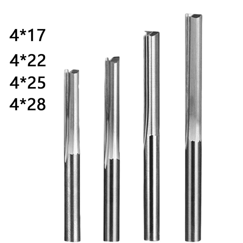 End Mill Tools <font><b>6mm</b></font>/4mm <font><b>Shank</b></font> Two Flutes Straight Router Bits for Wood CNC Straight Engraving <font><b>Cutters</b></font> Milling <font><b>Cutter</b></font> image