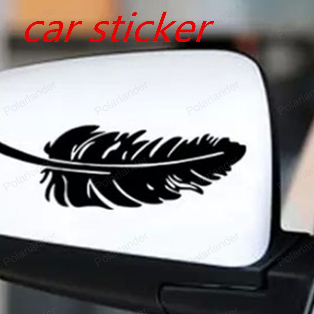 Bumper sticker creator free - New Design Feather Waterproof Auto Stickers Vinyl Decals High Quality Motorcycle Reflective Accessories Free Shipping