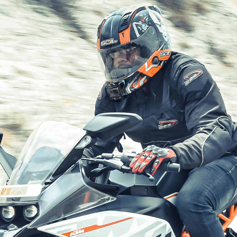 Soporte de montaje de barbilla para casco de motocicleta de cara completa para Gopro 7/6/5 SJ6/SJ7/SJ8 fori yi 4k DJI Osmo, accesorios de Cámara de Acción para ciclismo