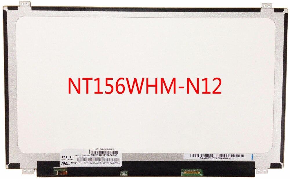 Écran LCD 15.6 pouces NT156WHM-N12 b156xw04 v.7 N156BGE-E31 LP156WHB-TPA1 LP156WHB-TPC1 1366x768 eDP 30pins Brillant Brillant WXGA