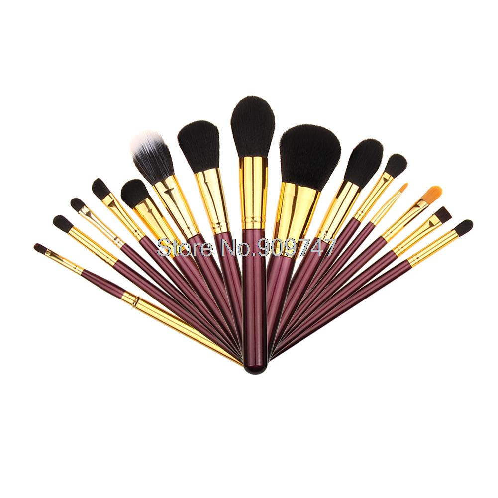 New Arrival 15 pcs Makeup Brushes Set Powder Foundation Eyeshadow Eyeliner Lip Brush Tool Cosmetic Brush 2017 new20pcs foundation eyeshadow eyeliner lip brush tool makeup brushes set powder new