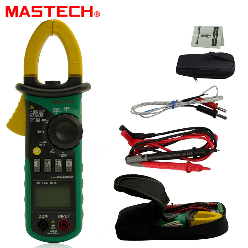 MASTECH MS2008B 3999 counts Digital Multimeter Amper Clamp Meter Current Clamp AC DC Voltage Capacitor Resistance