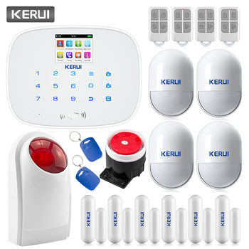 CORINA G19 Wireless Wired GSM SMS Home Security Alarmsysteem Engels en Russisch Voice Motion Detector Deur Sensor Alarm