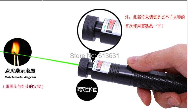 Promotion! NOUVEAU SDLaser 303 Mise Au Point Brûlant/Vert Pointeur Laser 100000 mw 532nm Vert Lazer Faisceau Militaire burning match