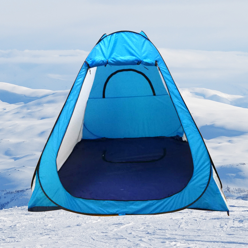 COOLWALK Outdoor Winter Tent Automatic Pop Up Shower Bath Room Tent Family Foldable Toilet WC Ice Fishing Tent for 1-2 People