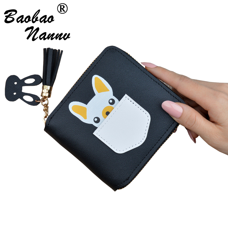 Girls Wallets 2019 New Cute Cartoon Dog Tassel Coin Purse Money Bag Credit Card Holder For Women Lady Casual Small Wallet Female