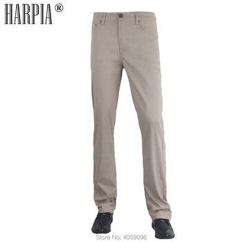 e9b52259c5 HARPIA casuales de los hombres pantalones de verano caliente nuevo hombre  Regular elástico recto clásico pantalones caqui de negocios de ocio hombre  más ...