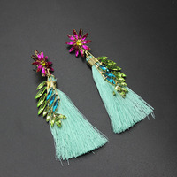 Fashion Handmade Embroidery Five-pointed Star Earrings Women's Love Temperament Temples Denim Belt Earrings 282