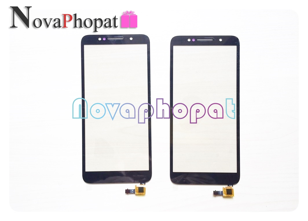 Novaphopat 5.3inch Black Touchscreen For Alcatel 1C 5009D 5009 Touch Screen Digitizer Glass Sensor Panel Touchpad +tracking