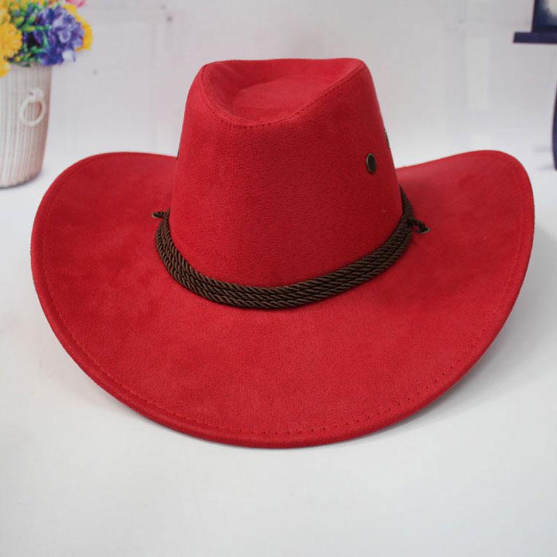 11.11 Topi Topi Koboi untuk Wanita dengan Bidang Sombreros Mujer - Aksesori pakaian - Foto 2