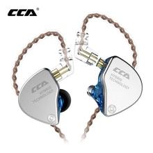 ใหม่ล่าสุดCCA CA4 1DD + 1BA Hybrid In EarหูฟังHIFI DJกีฬาMonitorวิ่งเวทีIEM Dualไดรฟ์ที่ถอดออกได้2Pinสาย