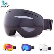 Anti-Fog Ski Goggles Spherical Frameless Ski Snowboard Snow Goggles 100% UV400 Protection Anti-Slip Strap for Men Women
