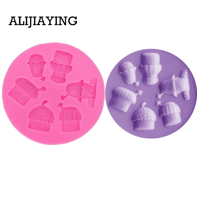 US $1 87 33% OFF|M0253 1Pcs Mushroom house Silicone mold tent snowflake  Fondant Mould Chocolate Molds DIY cake Decorating Tools-in Cake Molds from